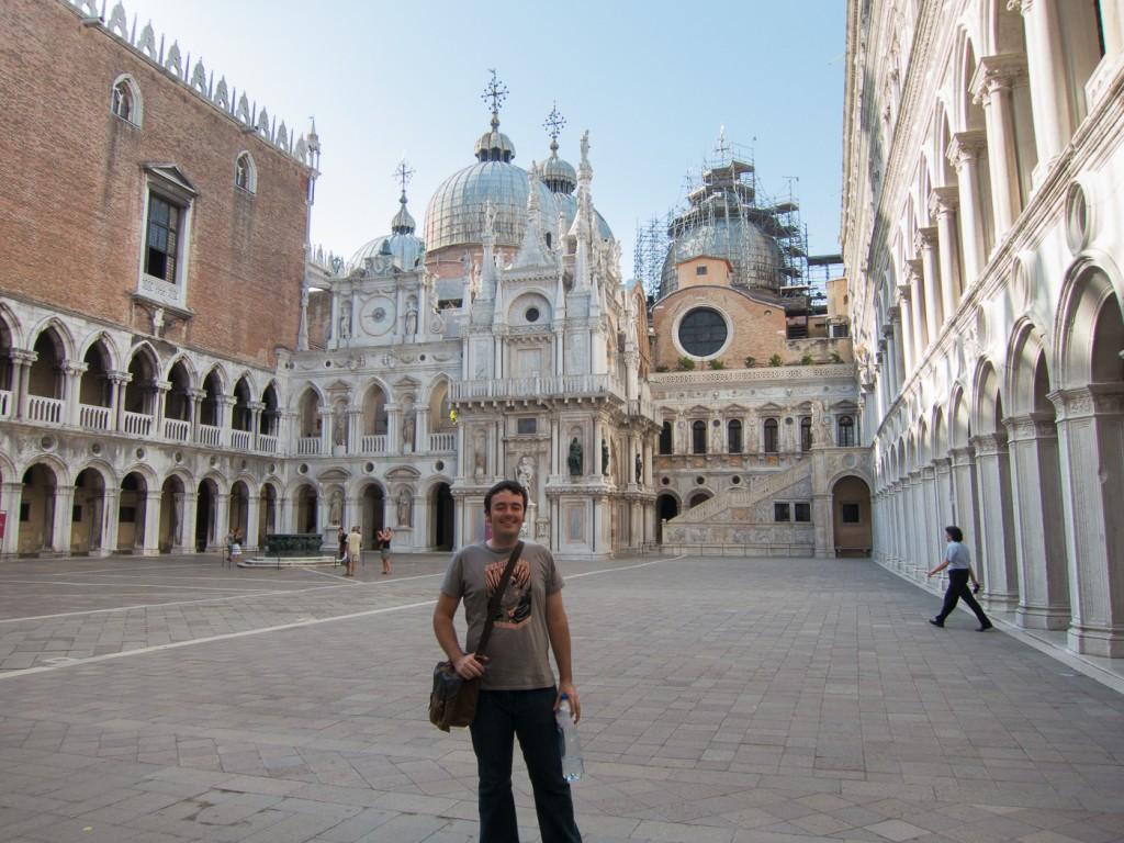 Me posing inside a near empty museum